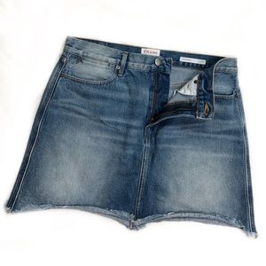 Frame ReRelease Rigid Denim Miniskirt